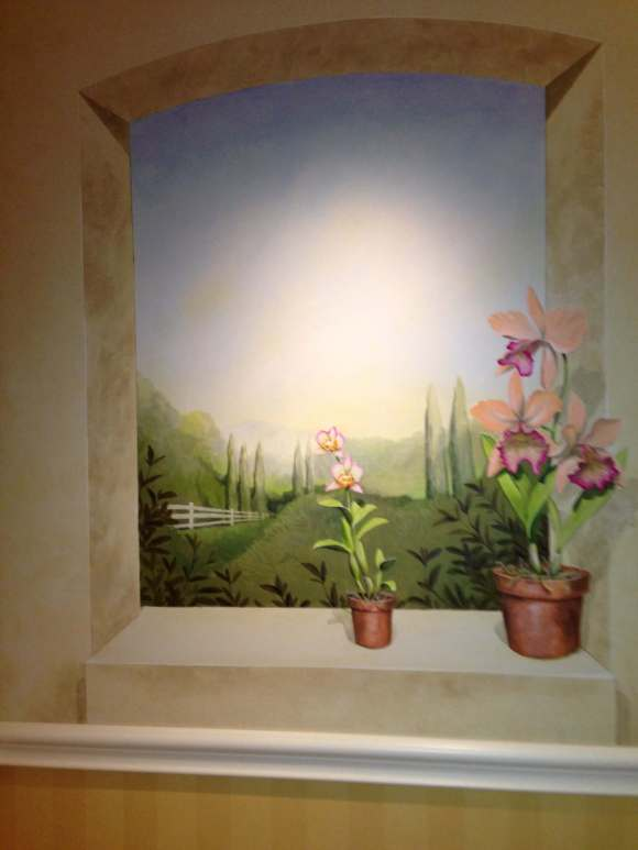 Murals on the walls at Four Seasons Hotel Westlake Village