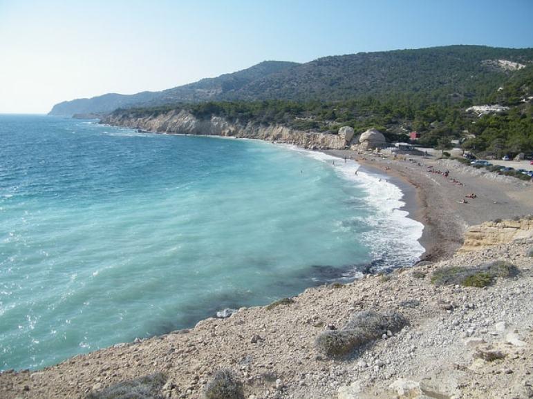 Santorini Beaches - Monoliths Beach