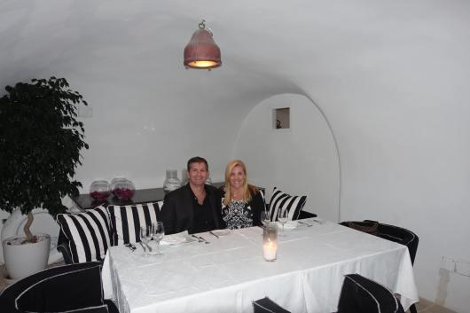 Canaves Oia Restaurant Dining, Santorini Greece