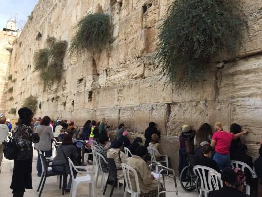 Women praying at The Wailing Wall, Jerusalem