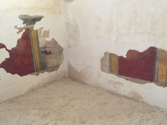 Mosaic tile on the walls of Masada, Israel