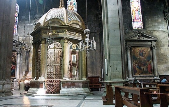 Where the Sacred Countenance is housed within the Cathedral of St. Martin