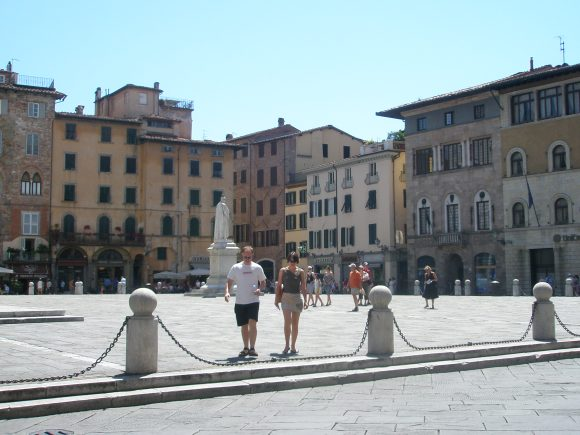 Piazza of San Michele, Lucca, Italy