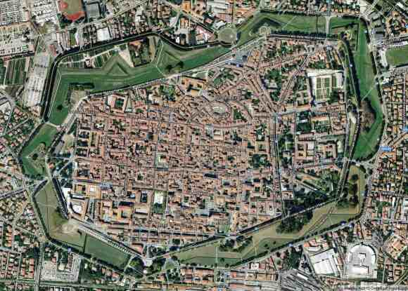 Lucca, Italy Aerial View