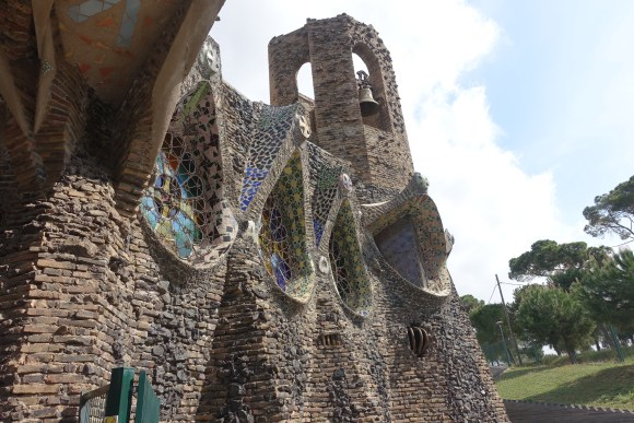 Gaudi's Cryst Windows and Bell Tower - Colonial Guell
