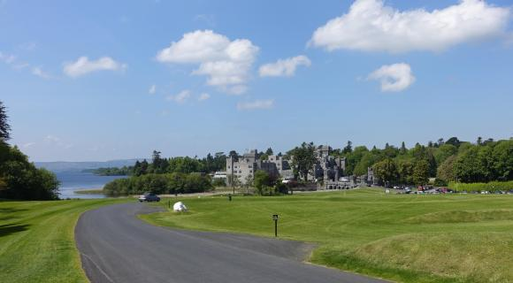 Ashford Castle, Cong, Ireland in the distance