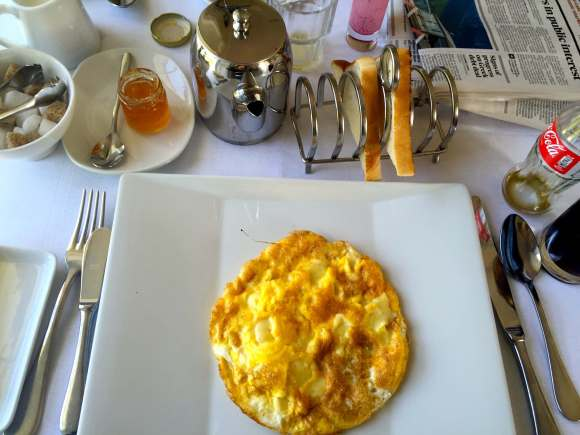Breakfast Omelet at The Lodge at Ashford Castle