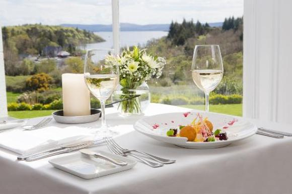 Wilde's at the Lodge Restaurant dinner view, The Lodge at Ashford Castle