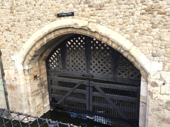 St. Thomas infamous river entrance to the Tower of London known as Traitors' Gate