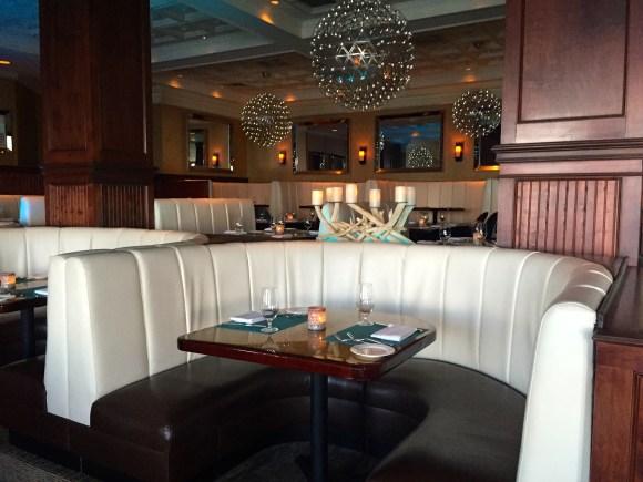 Ocean2000 Restaurant booth seating, Pelican Grand Beach Resort, Fort Lauderdale