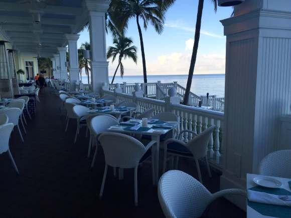 Ocean2000 Restaurant outdoor patio seating, Pelican Grand Beach Resort