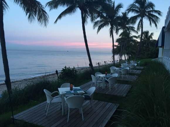 Ocean2000 Restaurant outdoor lawn patio seating, Pelican Grand Beach Resort