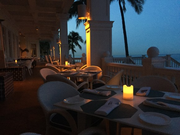 Ocean2000 Restaurant outdoor candlelight patio seating