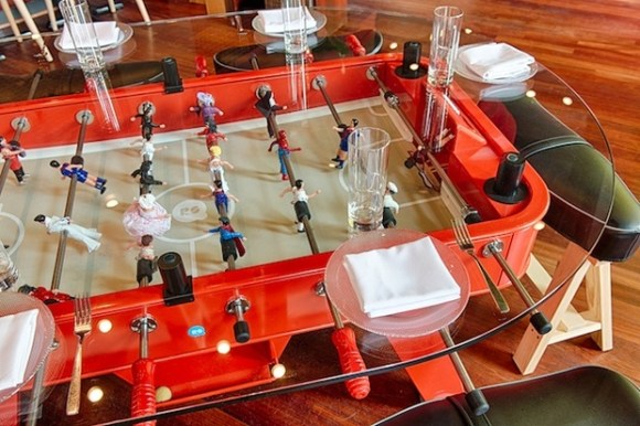 Foosball dining table at Jaleo (Photograph by Andrew Propp)
