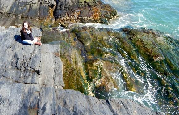 Me Sitting on the Giant Rocks (Photo Credit: Dori Eckert)