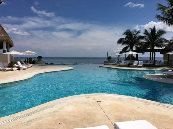 Infinity Pool by Brisas Restaurant - Fairmont Mayakoba