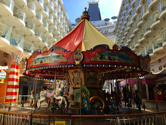 Carousel in the Boardwalk neighborhood on Oasis of the Seas cruise ship