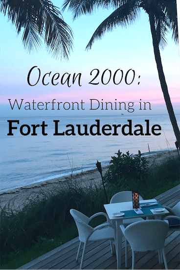 Ocean2000 offers cuisine ranging from seafood to steaks with panoramic views of the Atlantic ocean and is one of the best Fort Lauderdale.