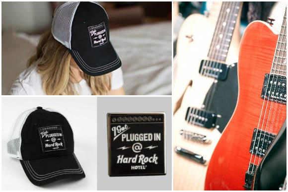"Limited Edition ""I Got Plugged In @ Hard Rock Hotels"" Hat and Pin"