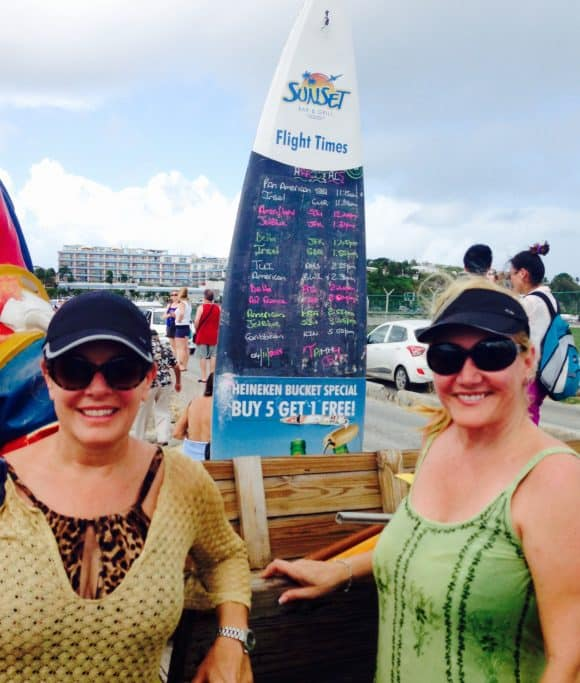 Flight Schedule at Sunset Bar and Grill in St. Martin