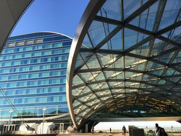 Westin DIA Hotel crosswalk to terminal