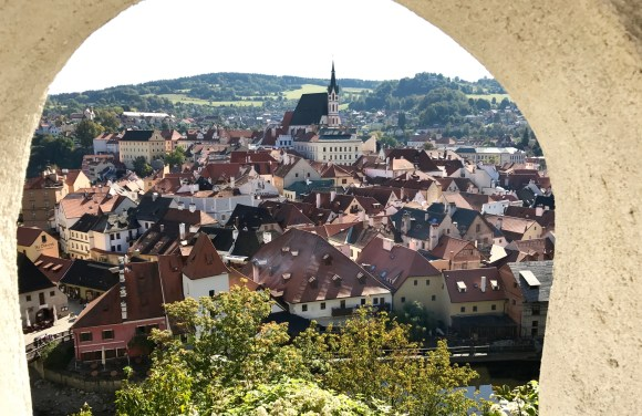 The town of Cesky Krumlov in Czech Republic