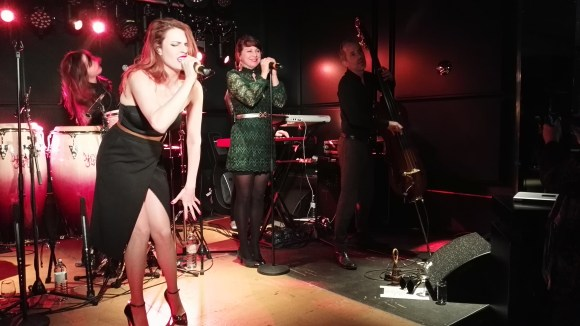 French Bossa-Nova band Nouvelle Vague performing at Le Meridien Vienna Grand Re-opening Party