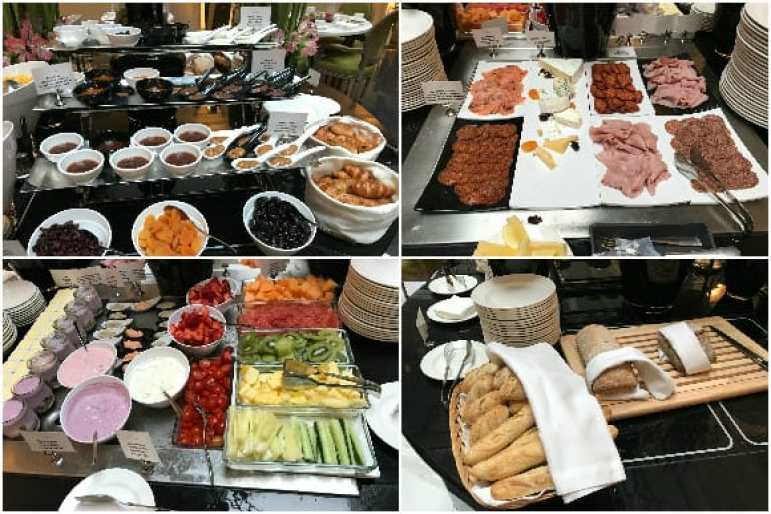 Breakfast Selections at the The Music Garden Courtyard - Aria Hotel Budapest
