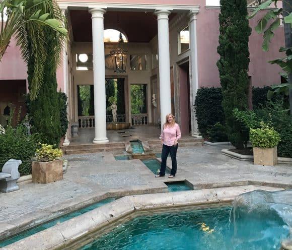 Admiring the fountains and pool area - Villa Padierna Hotel Palace