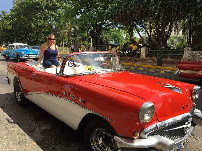Antique Car in Havana Cuba