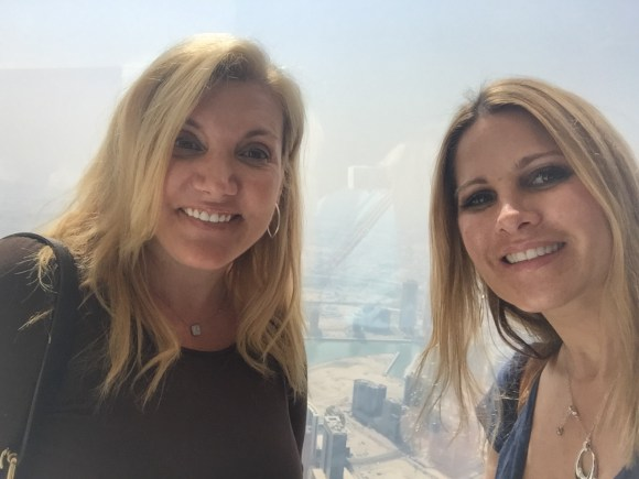 A photo break on the 124th observation deck of the Burj Khalifa