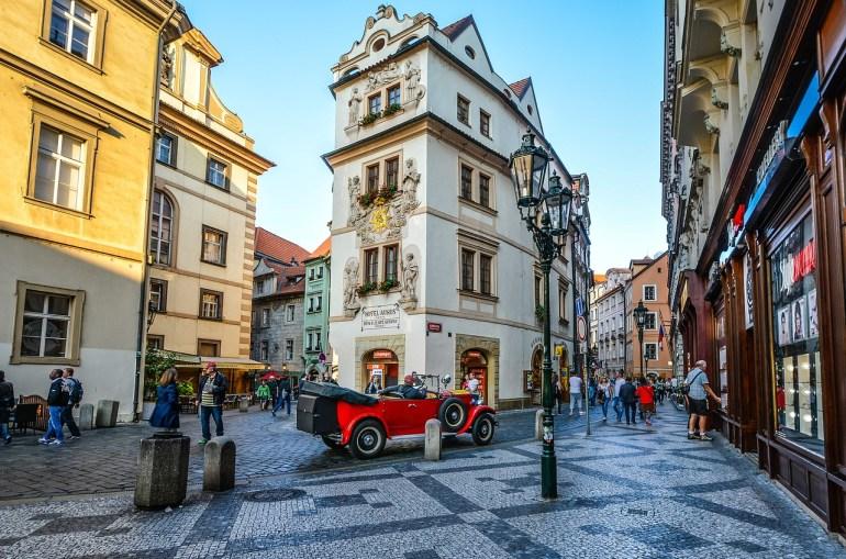 Prague street scene