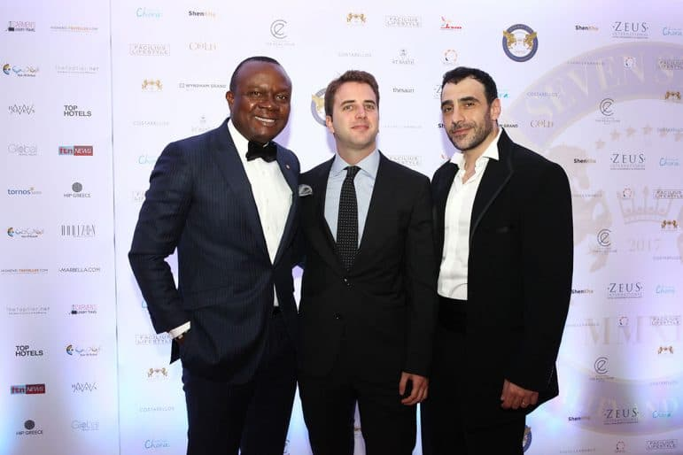 Valentin Ozigbo, CEO of Transcorp Hilton with John Georgakakis CEO of the Ecali Club SA and Khalil El-Mouelhy, Chairman, President & Founder of SSLHLA