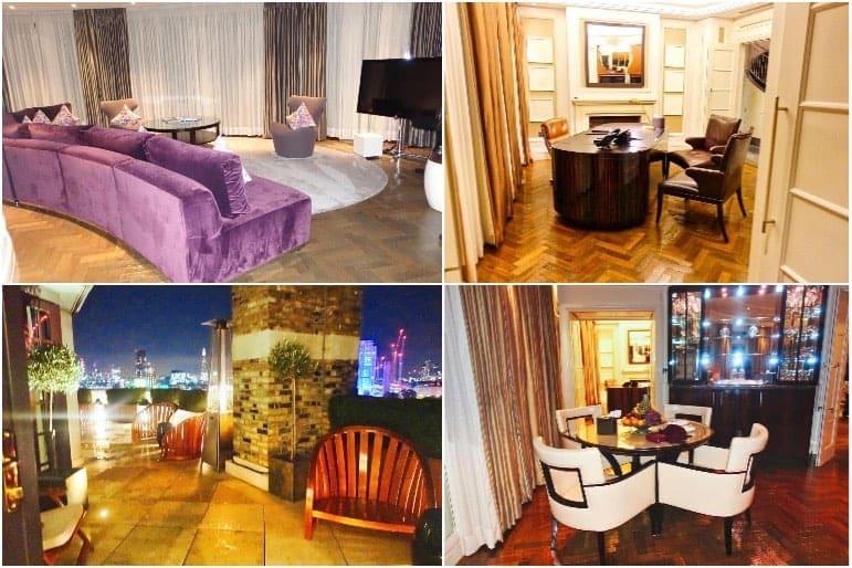 Royal Penthouse Suite Living Area, Dining Area, Office - Corinthia Hotel London