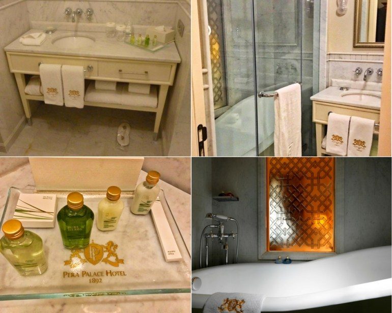 Deluxe Golden Horn King Bathroom - Pera Palace Istanbul