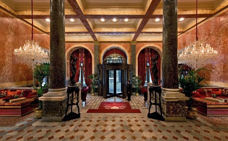 Pera Palace Istanbul Entrance and Lobby Area