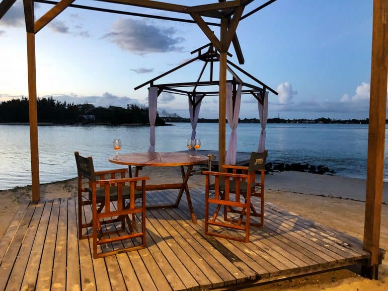 Drinks with a view at Republik Beach Club & Grill - Shangri-La Le Touessrok Resort