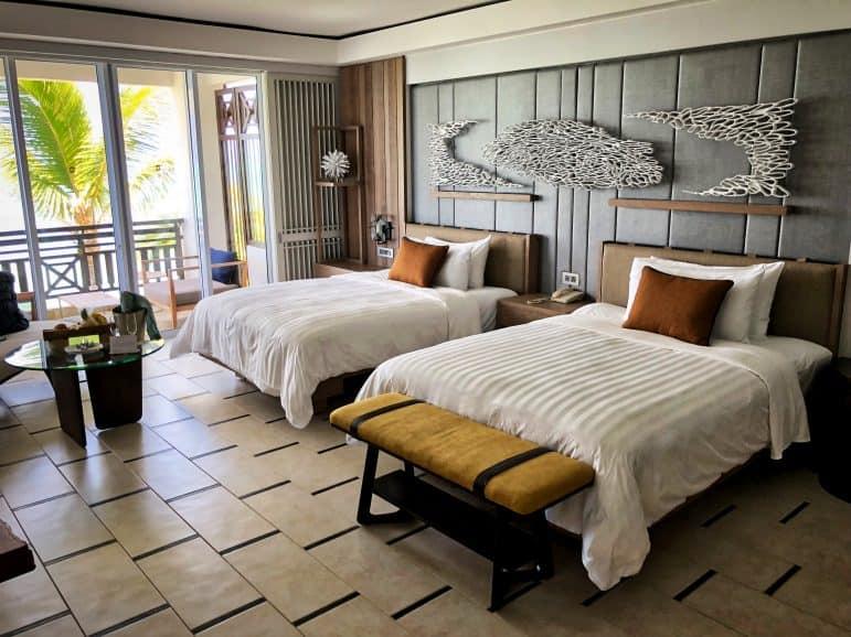 Shangri La's Deluxe Suite Mauritius