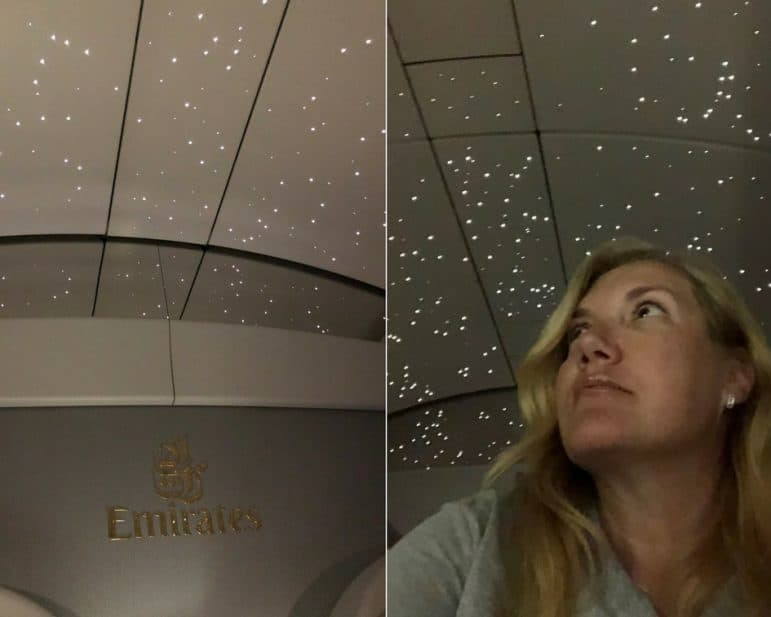 Emirates First Class Evening Lights