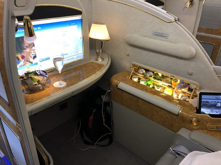 Emirates First Class A380 Center Seat
