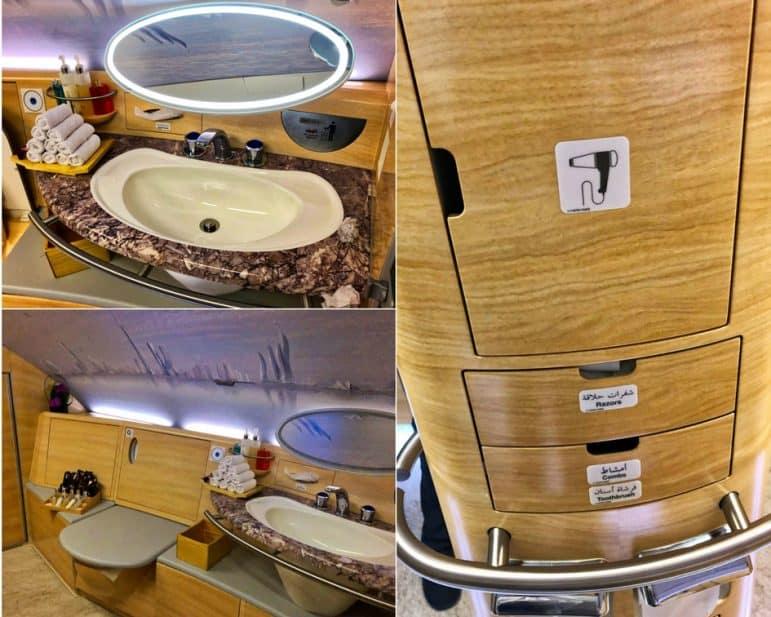 Emirates A380 First Class Bathroom Amenities