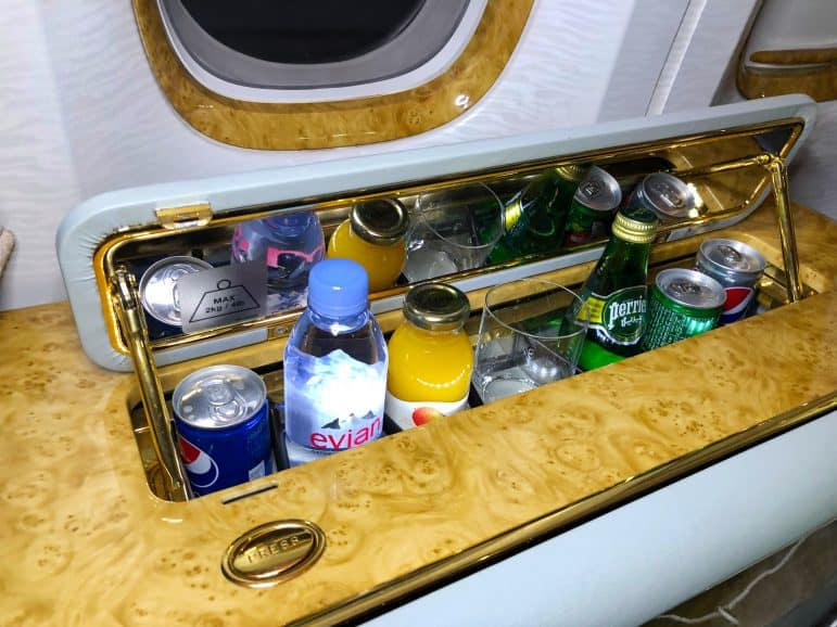 In-Suite Bar on Emirates First Class