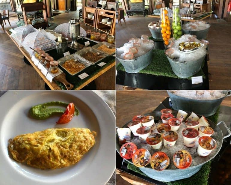 Breakfast Selections Republik Beach Club & Grill - Shangri-La Le Touessrok Resort