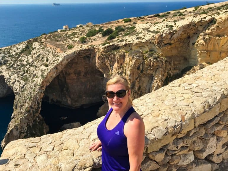 Looking down into The Blue Grotto - Malta