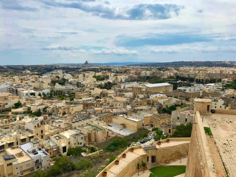 Citadel a small fortified city located in the center of Victoria, the capital of the island of Gozo