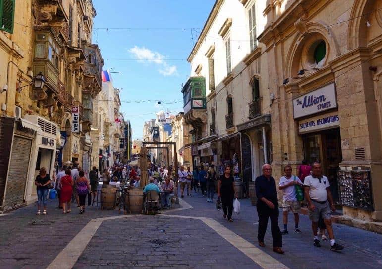 Busy Streets of Valletta - Malta