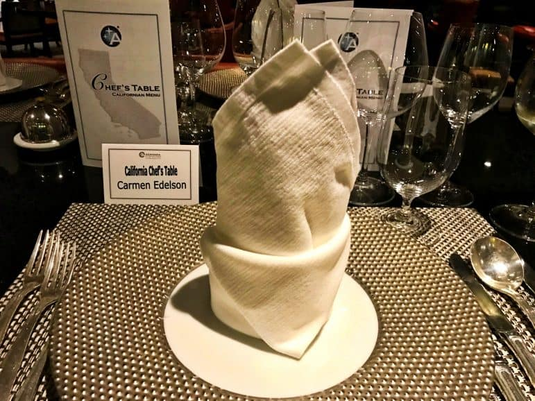 Chef's Table Dinner - Azamara Journey