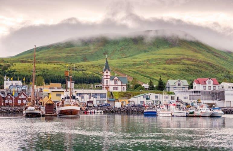The Town of Husavik, Iceland