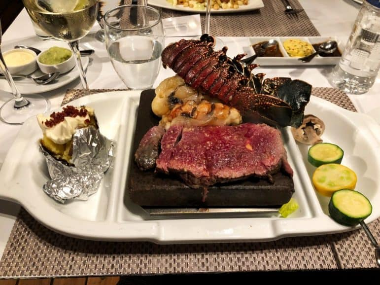 Lobster and Steak Lava Rock Dinner - The Grill Restaurant