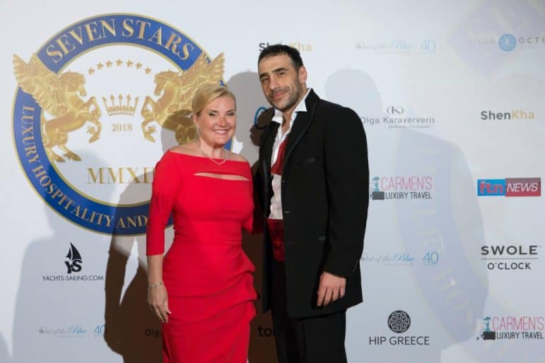 Khalil El-Mouelhy- Chairman, President/Founder of Seven Stars Media Corporation and SSLHLA and Carmen Edelson, Founder of Carmen's Luxury Travel and Luxury Panelist for SSLHLA
